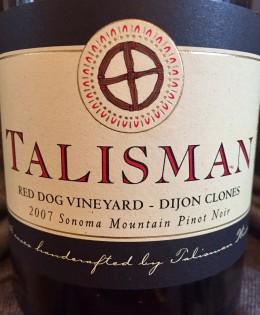 2007 Talisman Red Dog Vineyard Pinot Noir